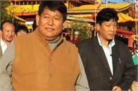File photo of Arunachal Pradesh CM Dorjee Khandu (face to the camera)