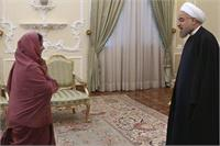External Affairs Minister Sushma Swaraj meeting Iran President Hassan Rouhani during her recent visit to Iran.