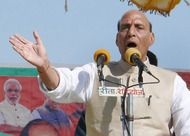 Singh accused Akhilesh of shattering Mulayam''s dreams by making alliance with Congress. PTI Photo