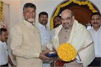 BJP Prez Amit Shah met TDP chief Chandrababu Naidu amid reports of souring ties between their parties. PTI