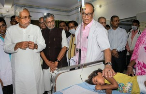 Protests greet Nitish during Muzaffarpur hospital visit; AES toll climbs to 111