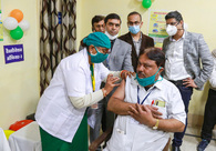 A total of 2,24301 beneficiaries have been inoculated with COVID-19 vaccine so far. PTI Photo