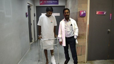 Youth's Crushed Legs and Life Saved by Timely Treatment at Parvathy